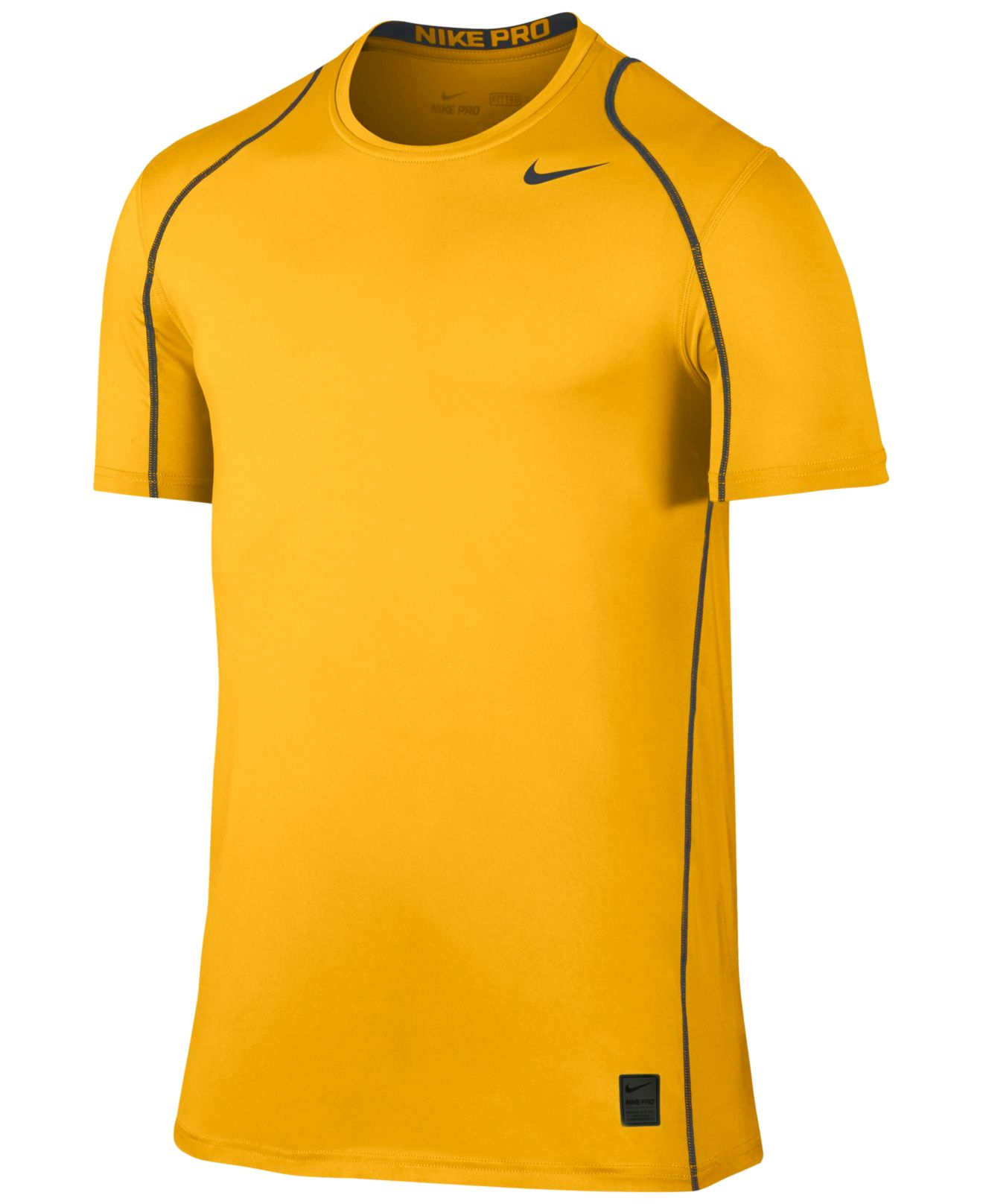 d83a8cab Nike Men's Pro Cool Fitted Dri-fit Shirt in Yellow for Men - Lyst
