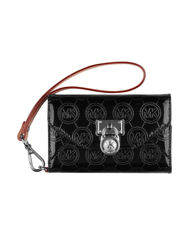 3c69feacd4f7 Michael Kors Michael Jet Set Clutch Bag Phone Wallet Case in Black ...