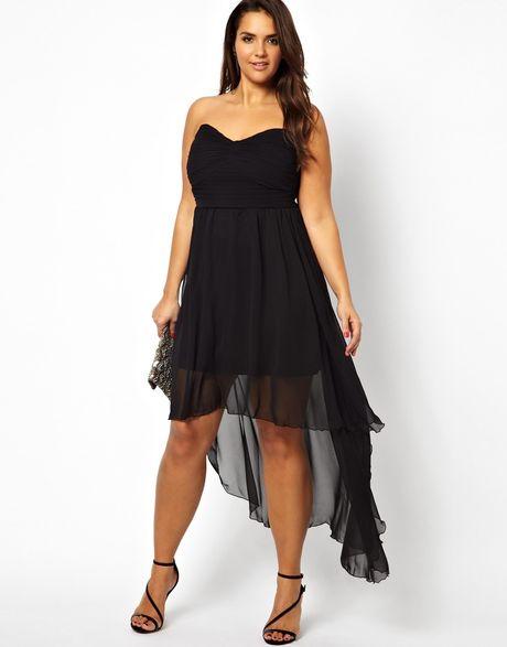 Ax Paris Curve Drop Back Dress in Black