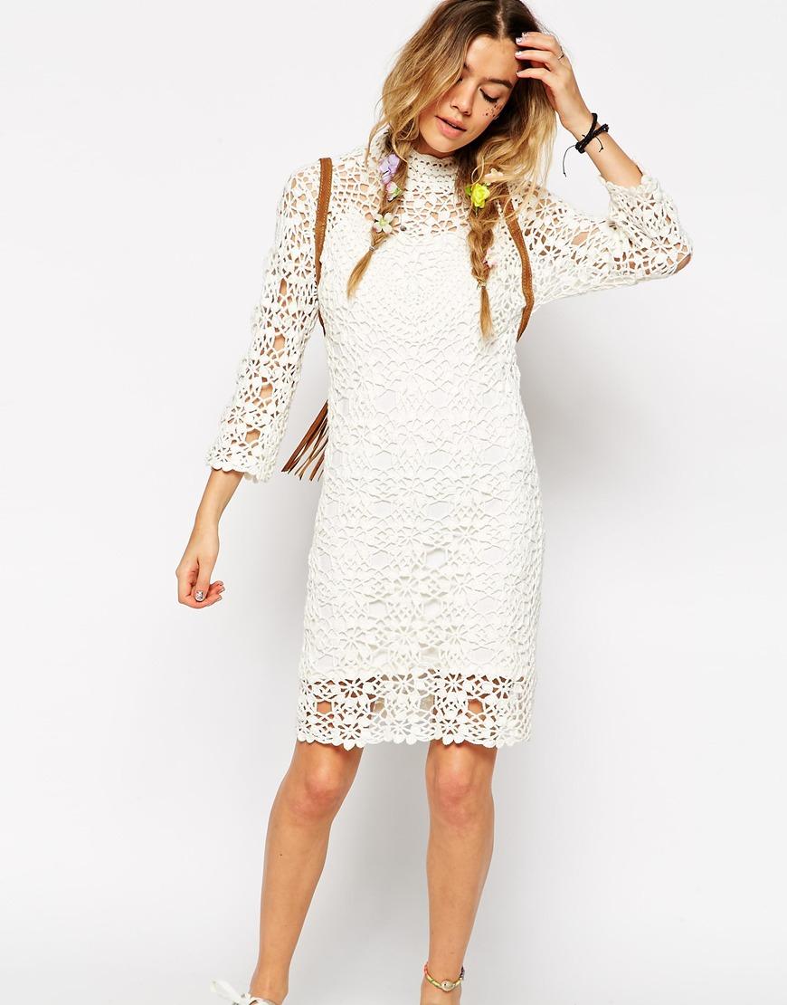 White dress crochet - Gallery Women S Crochet Dresses