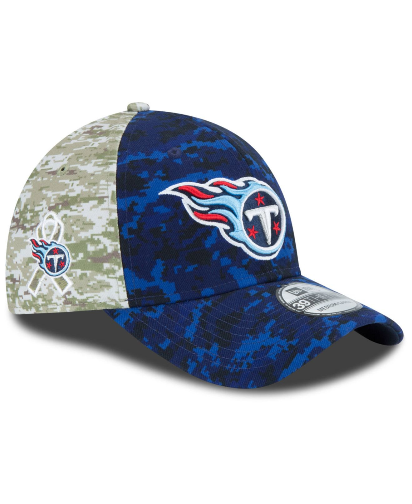 Lyst - KTZ Tennessee Titans Salute To Service 39thirty Cap in Green ... 1e373340c389