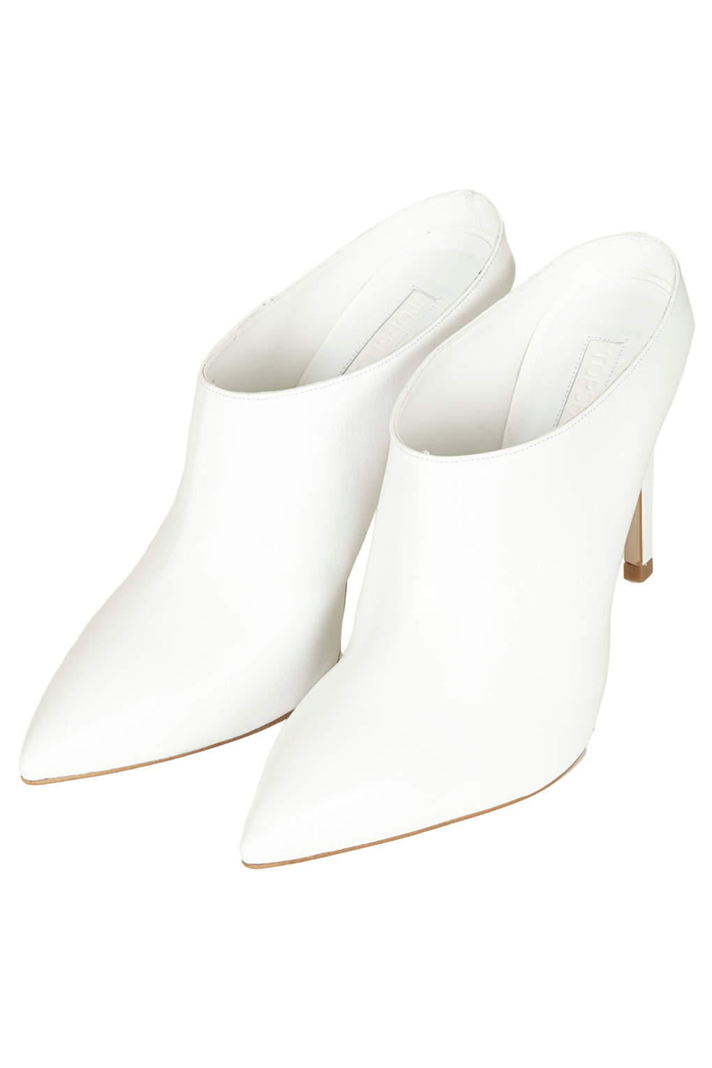 Topshop Gabi Mule Point Toe Shoes In White   Lyst