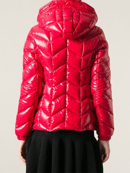 Moncler Badete Chevron Padded Jacket In Red Lyst
