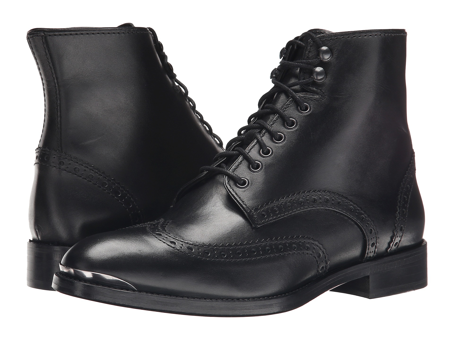 Lyst - The Kooples Smooth Leather Military Boot in Black for Men fd8808c07d6e