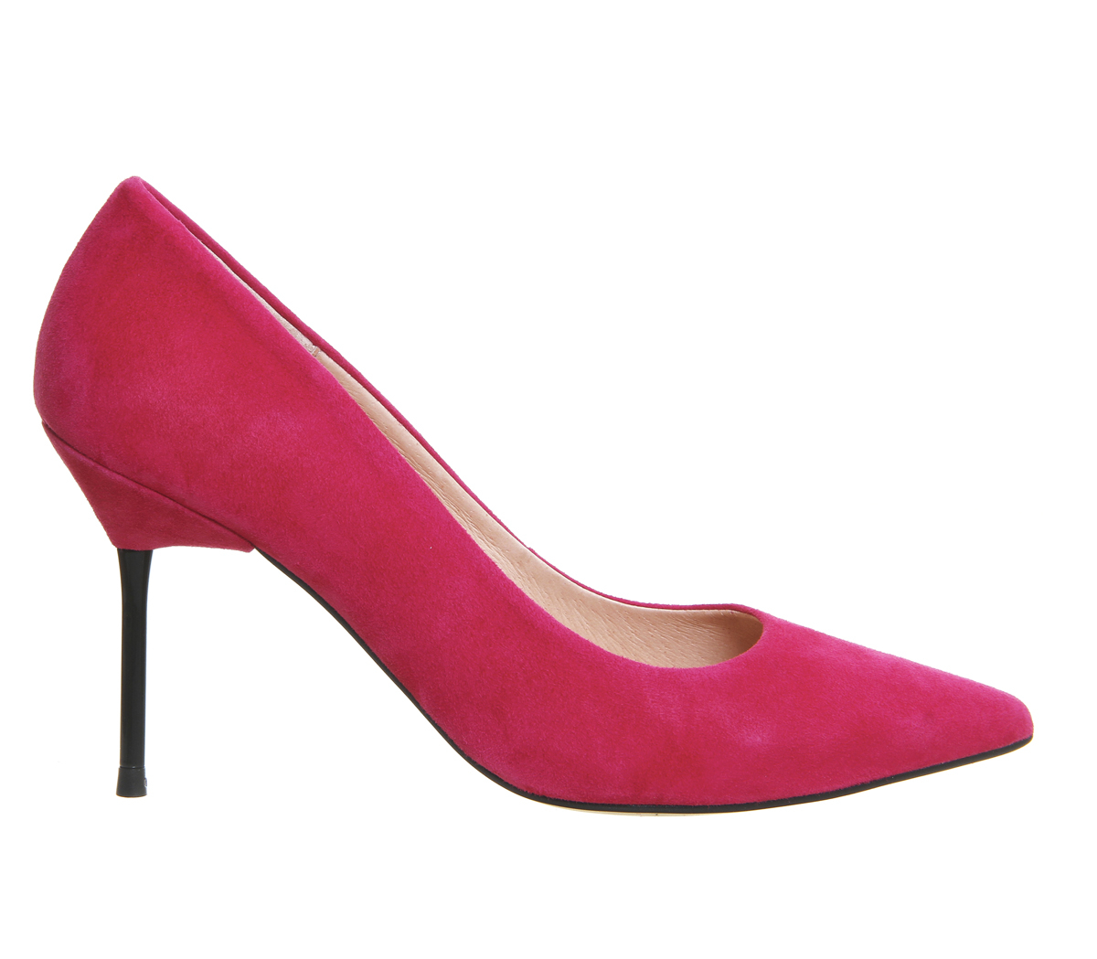 office quincey point court shoes in pink lyst