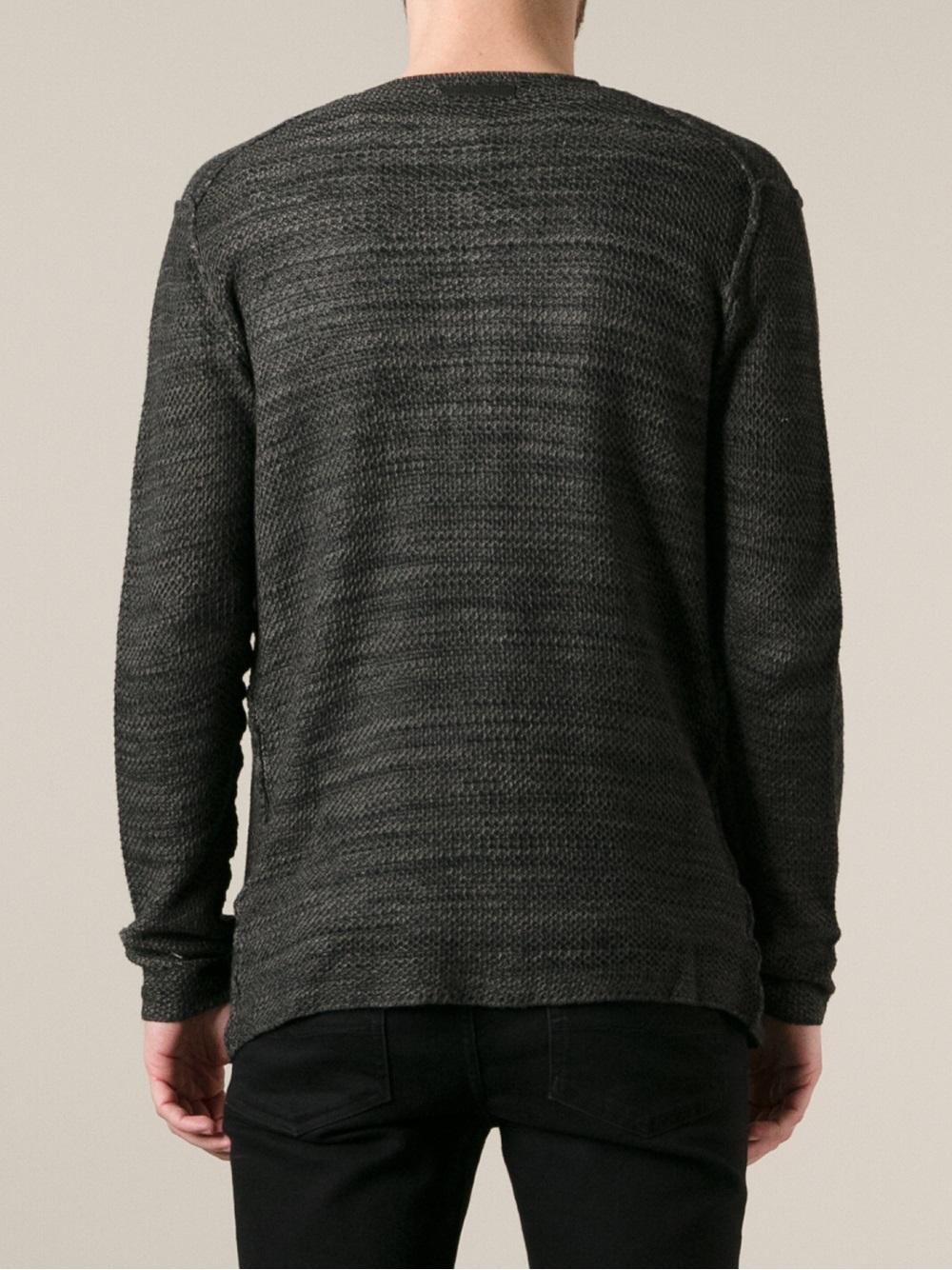 Diesel black gold Kirufi Tricot Cardigan in Gray for Men | Lyst