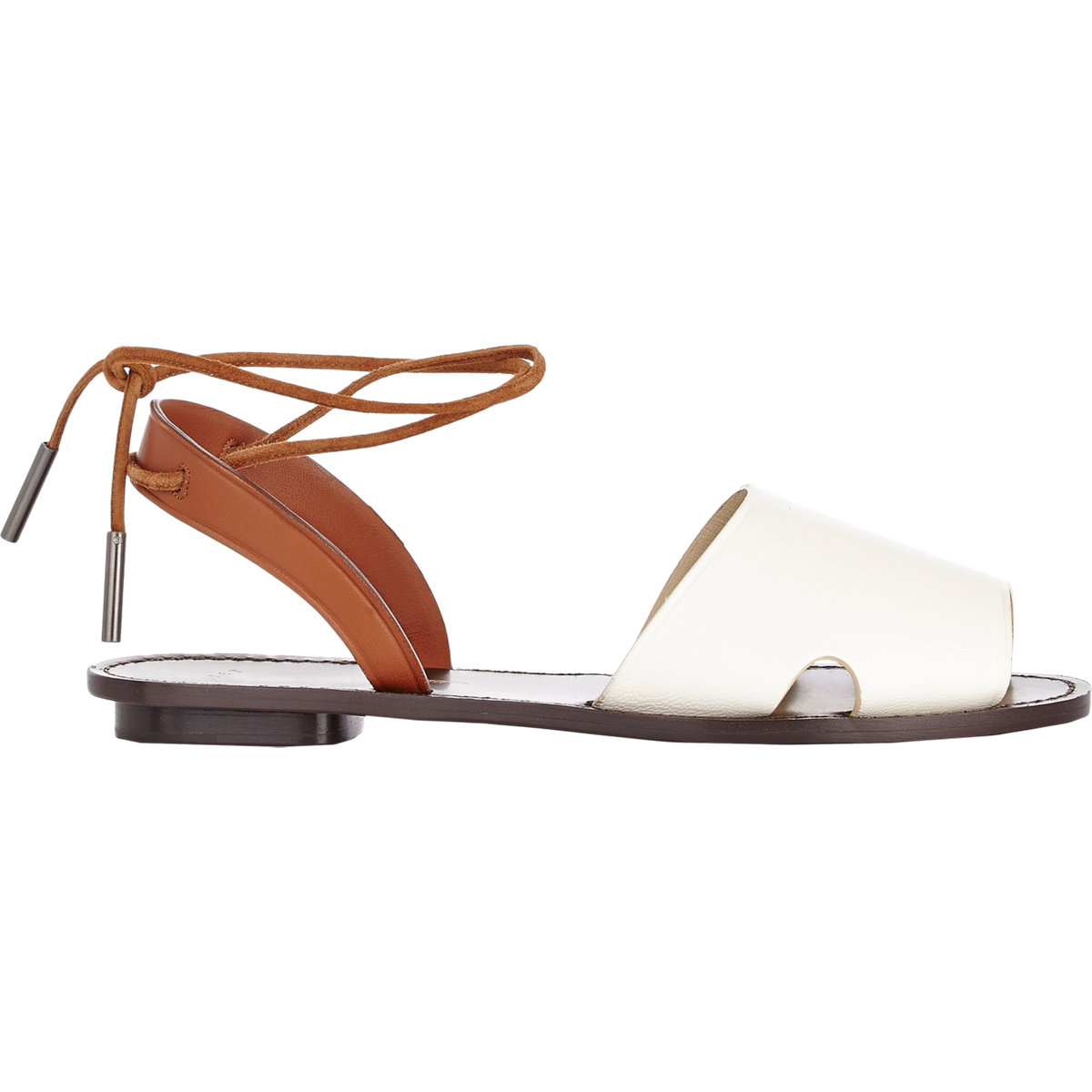 1a016e00433 Maiyet Ankle-tie Flat Sandals in White - Lyst