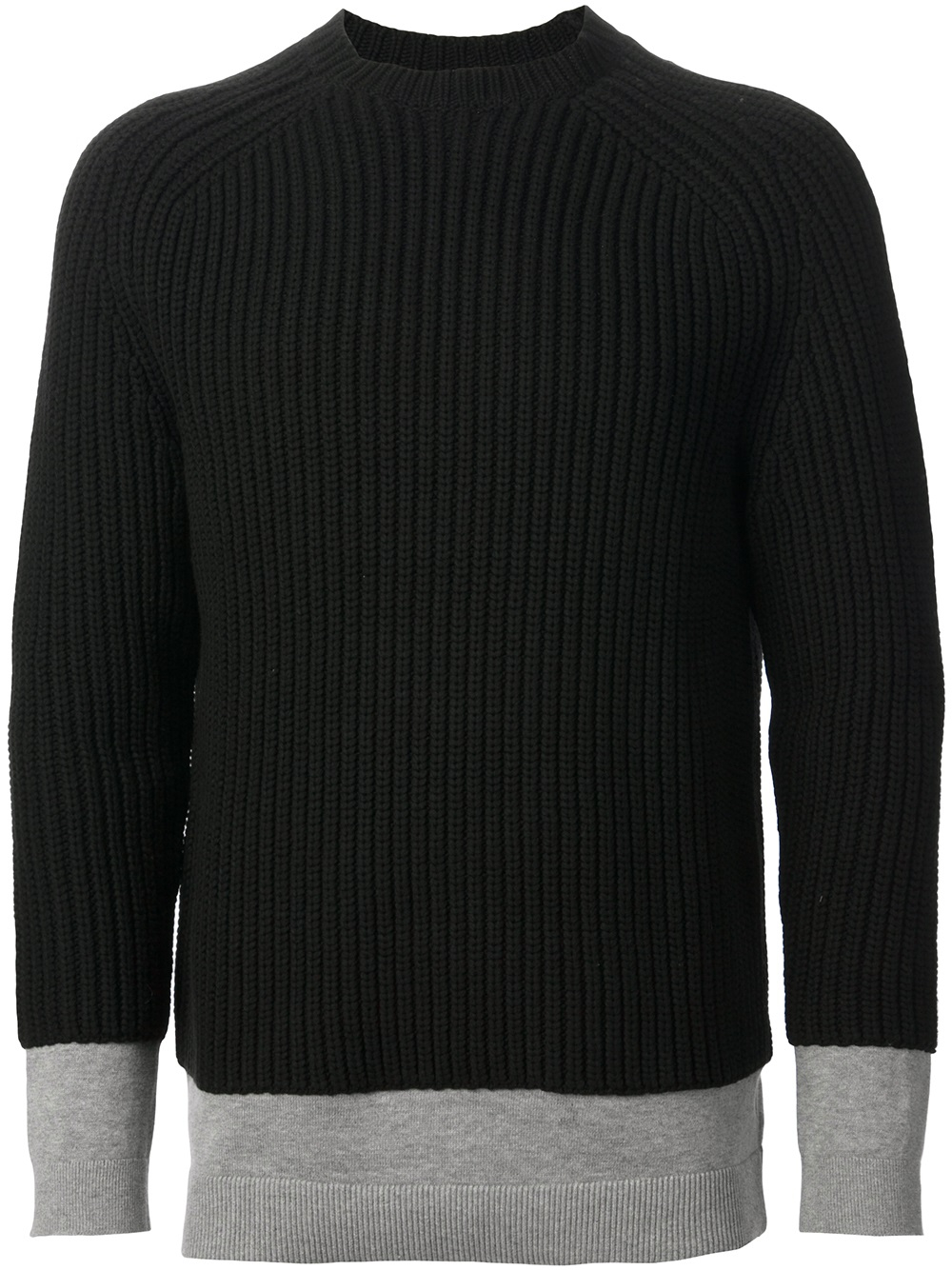 Alexander wang Ribbed Sweater in Black for Men | Lyst
