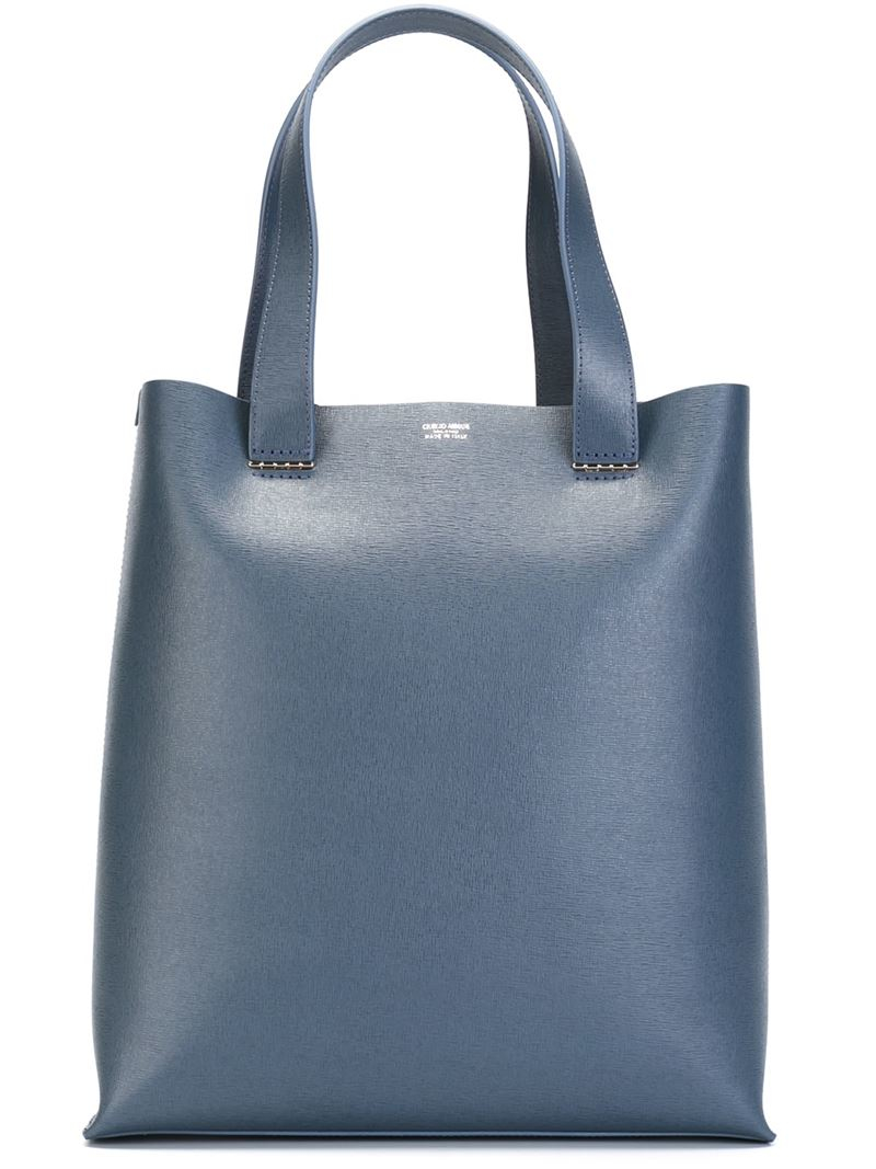 26bdf6d9201ee Lyst - Giorgio Armani Square Tote Bag in Blue