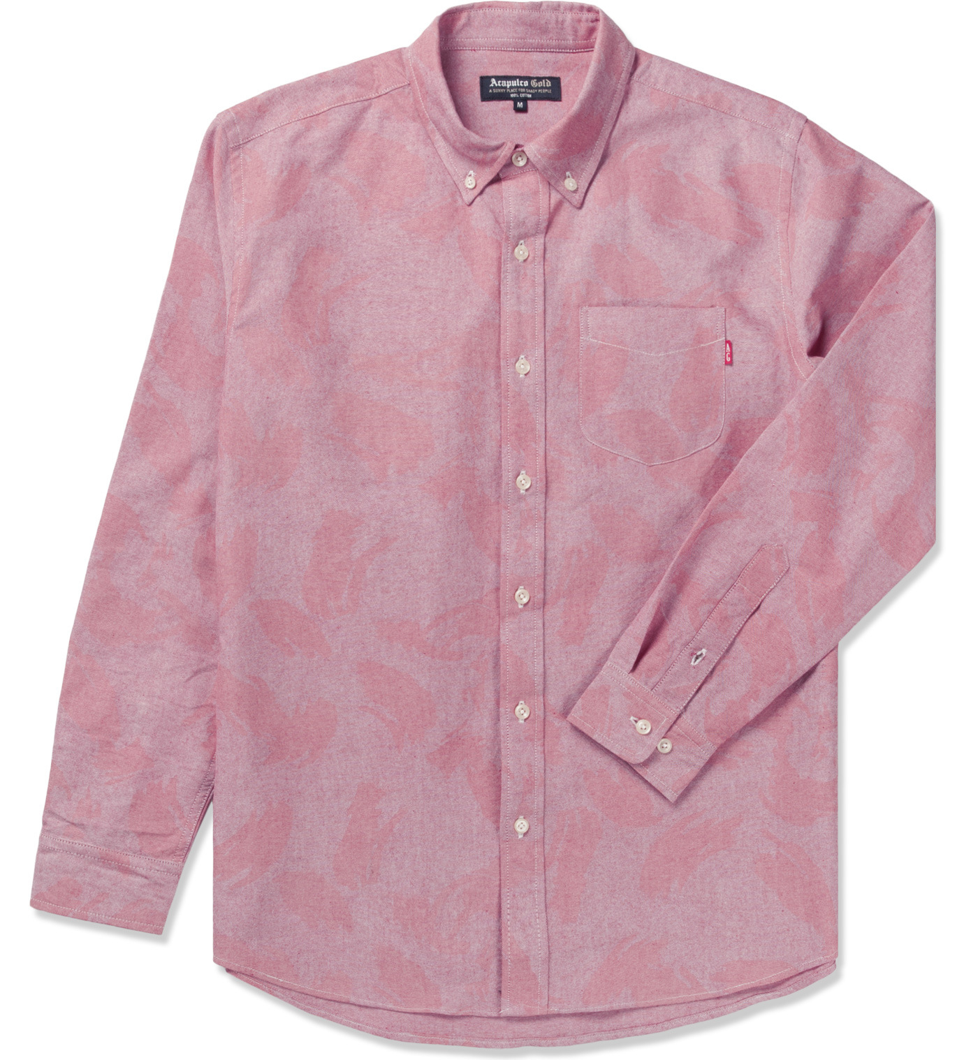 Acapulco Gold Red Camo Oxford L S Button Down Shirt In
