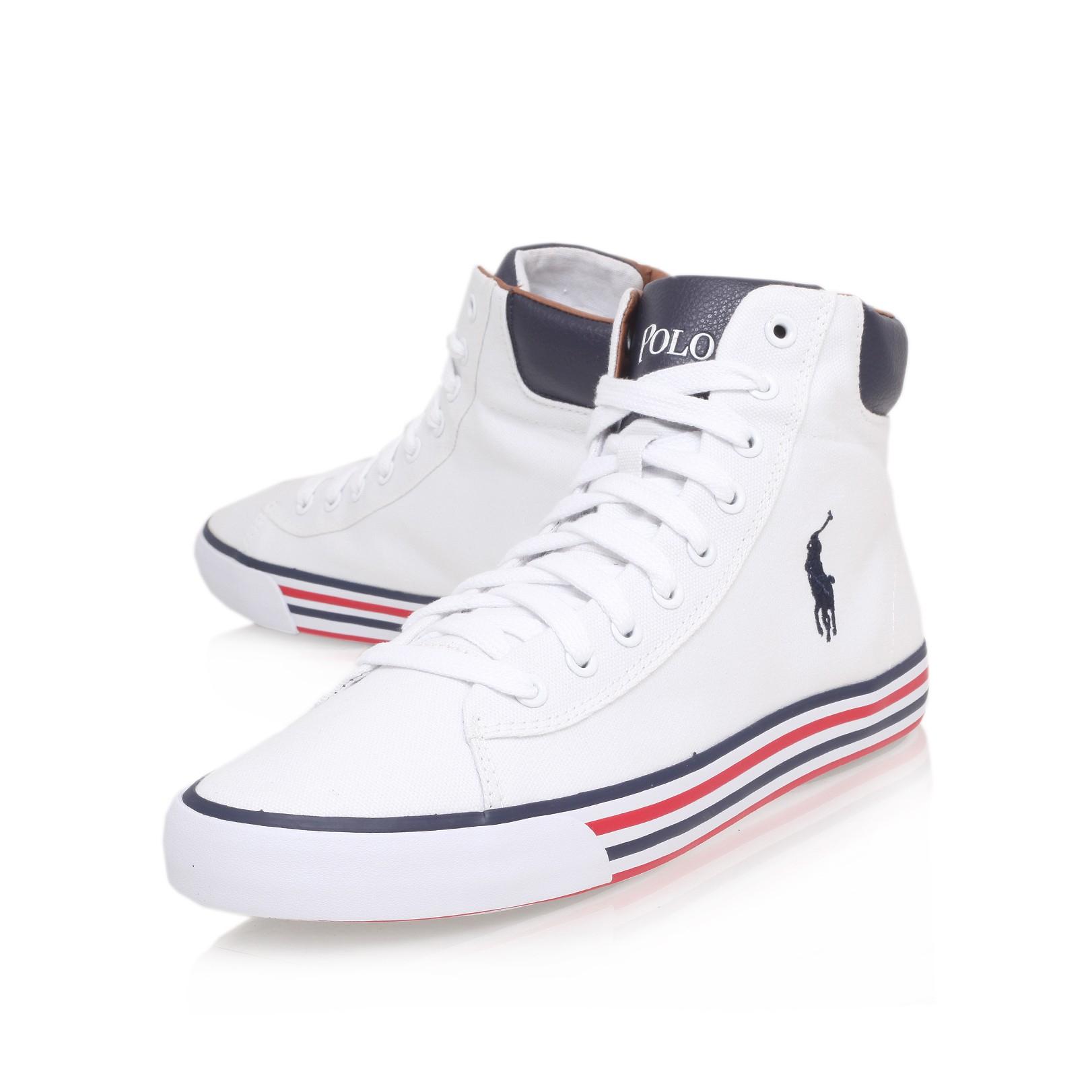 2b3c2c34070372 Polo Ralph Lauren Harvey Mid Sneaker in White for Men - Lyst