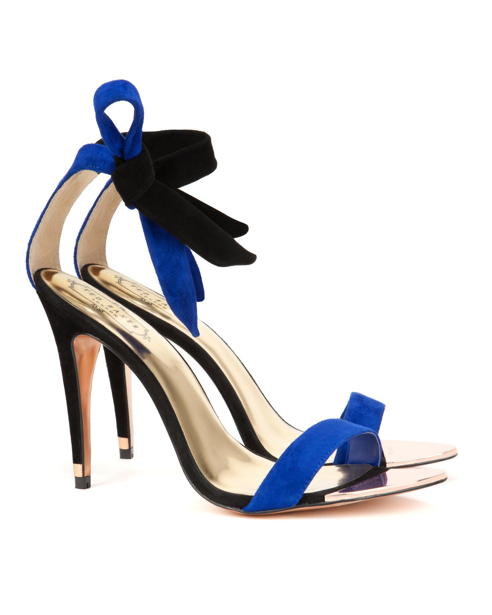 faedc516b41f9 Lyst - Ted Baker Ankle Tie Heels in Blue