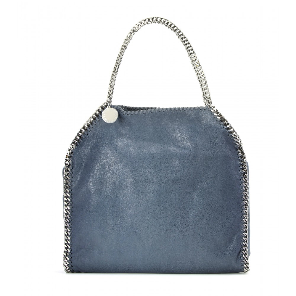 e8729d4c6298 Stella mccartney Falabella Shaggy Deer Small Tote in Blue