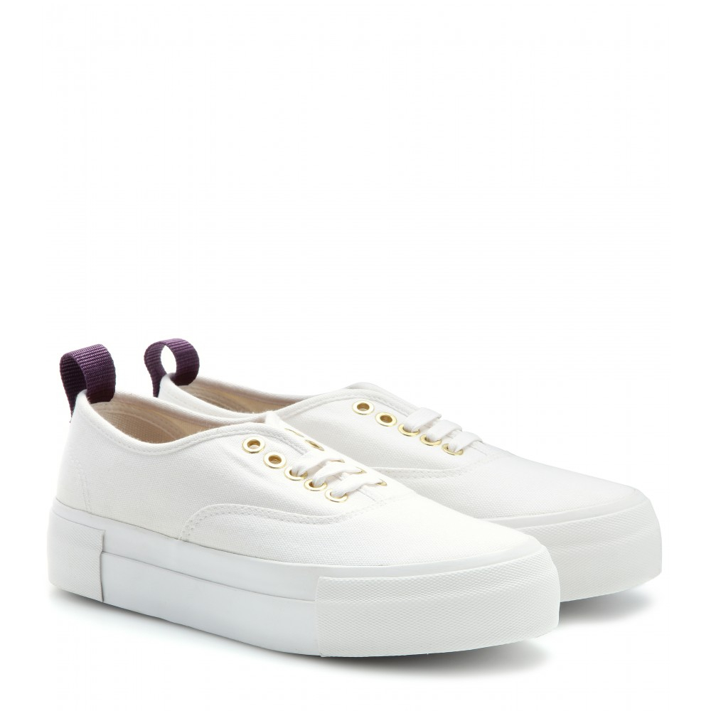 Eytys Mother Canvas Platform Sneakers In White