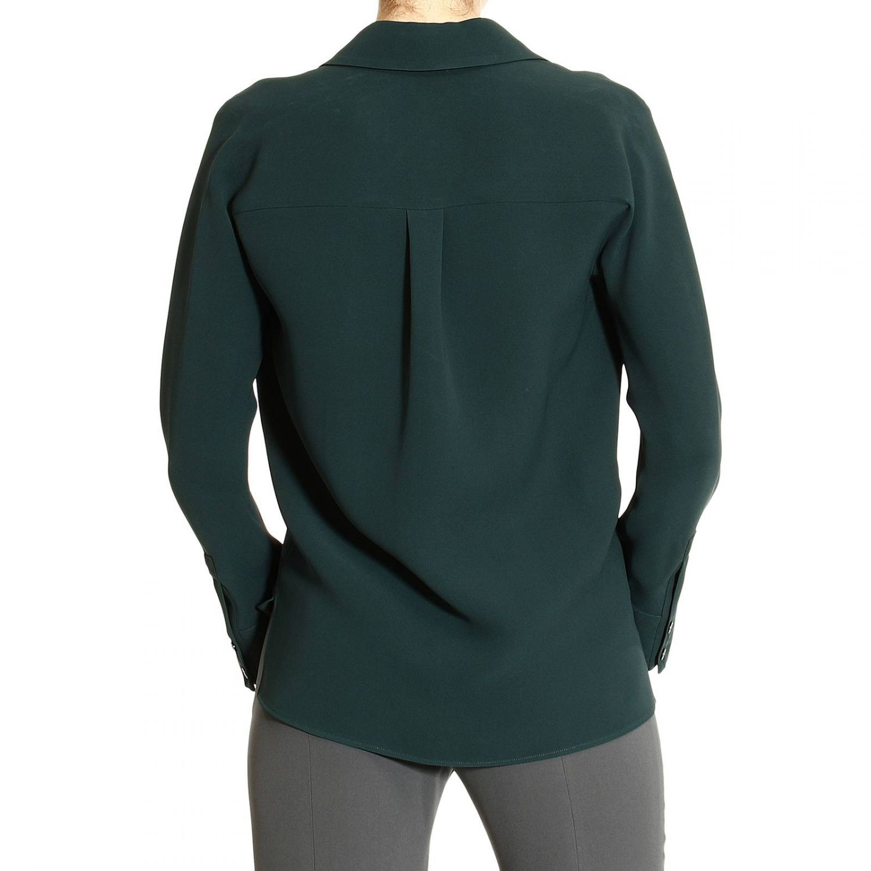 Giorgio armani shirt long sleeve silk in green lyst for Silk long sleeve shirt