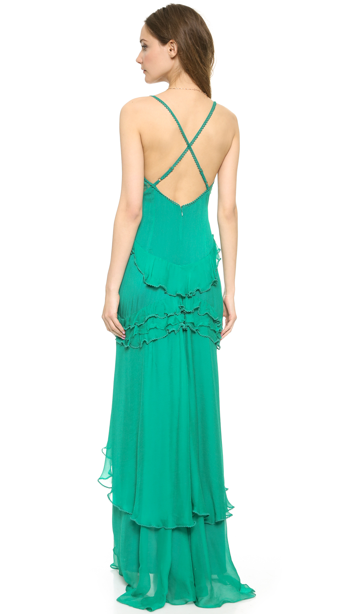 Lyst - Free People China Doll Maxi Dress Emerald in Green