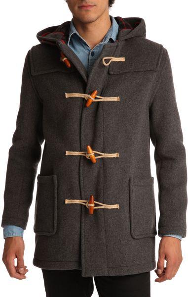 Gloverall Grey Duffle Coat In Gray For Men Grey Lyst