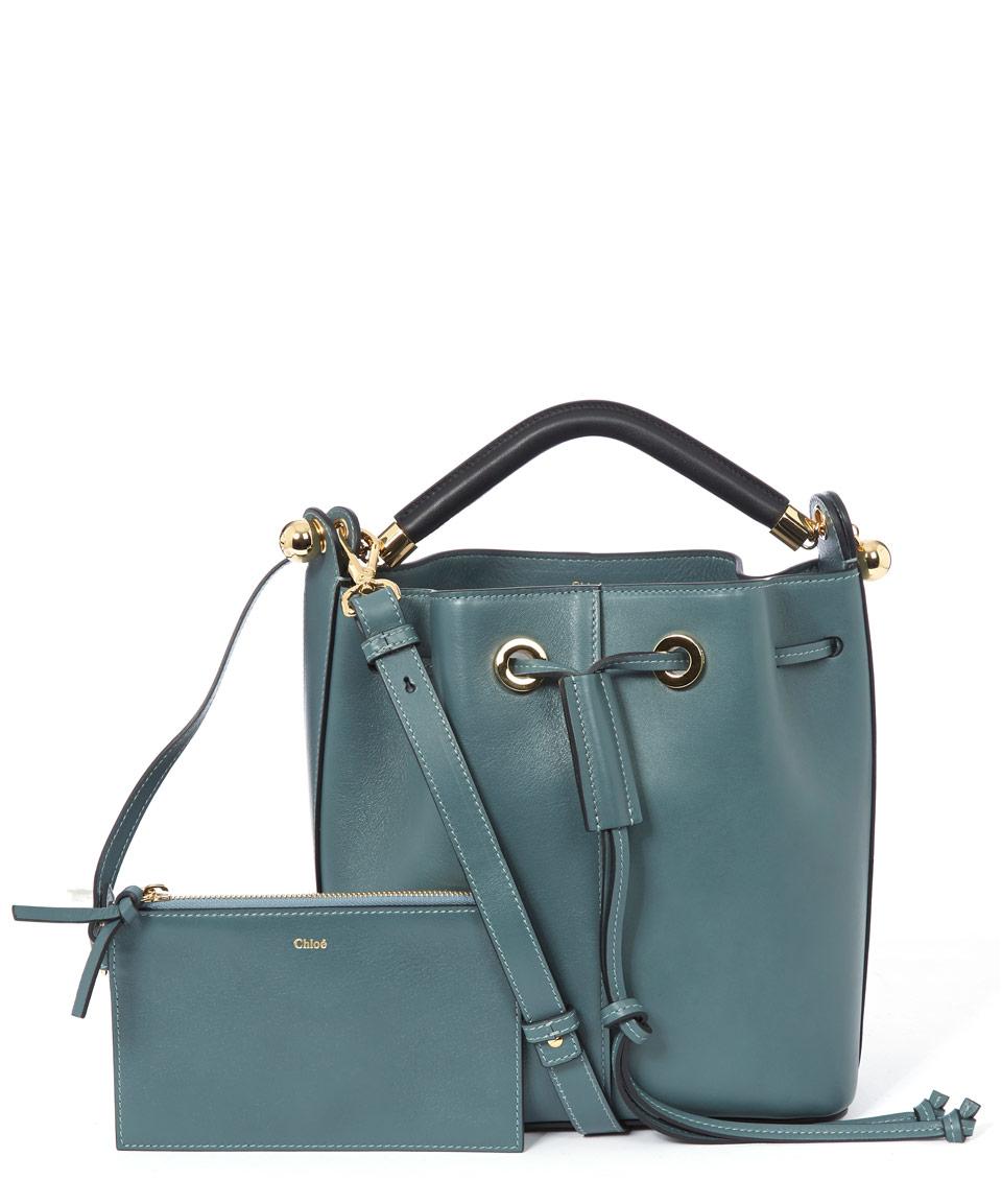 chloe leather bucket bag