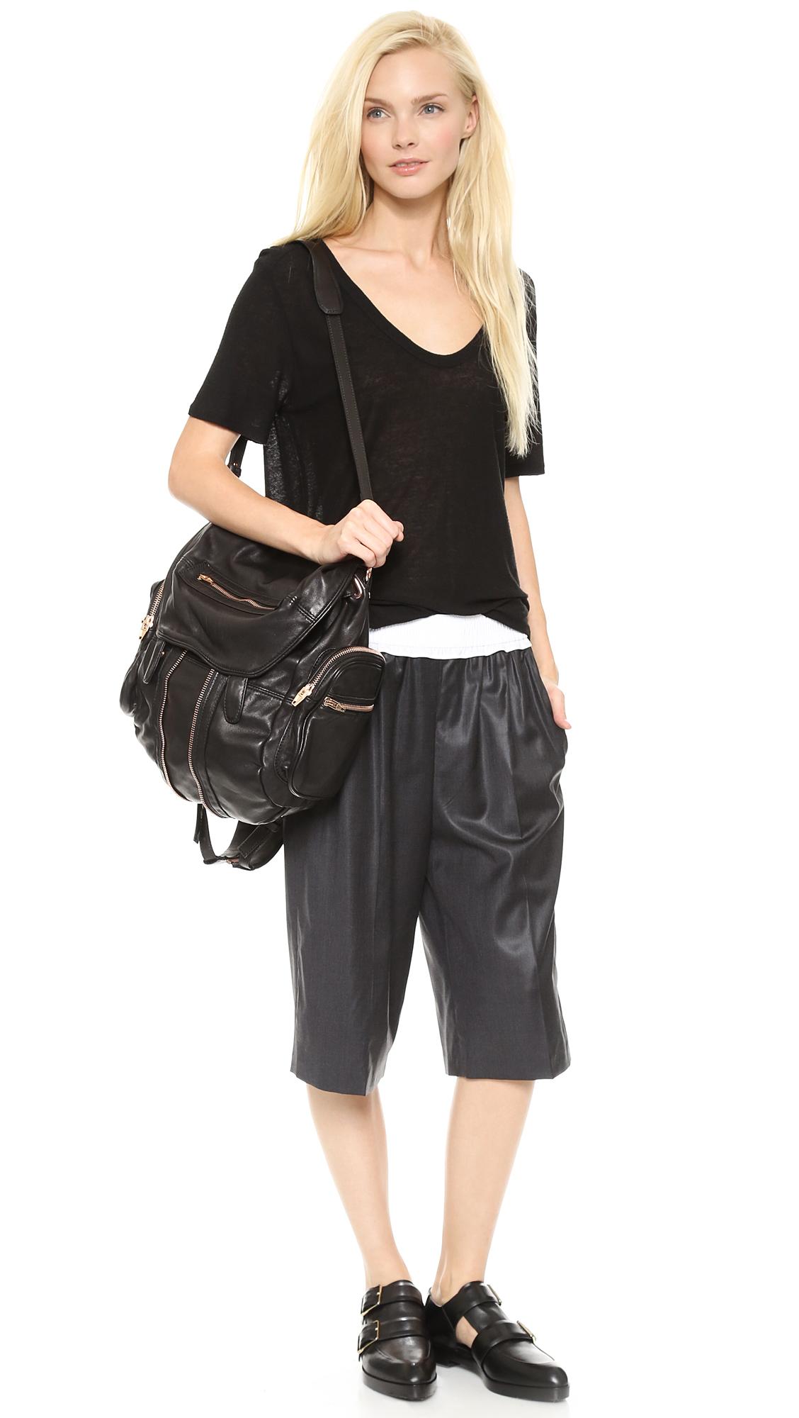 Alexander Wang Marti Washed Backpack Black In Black Lyst