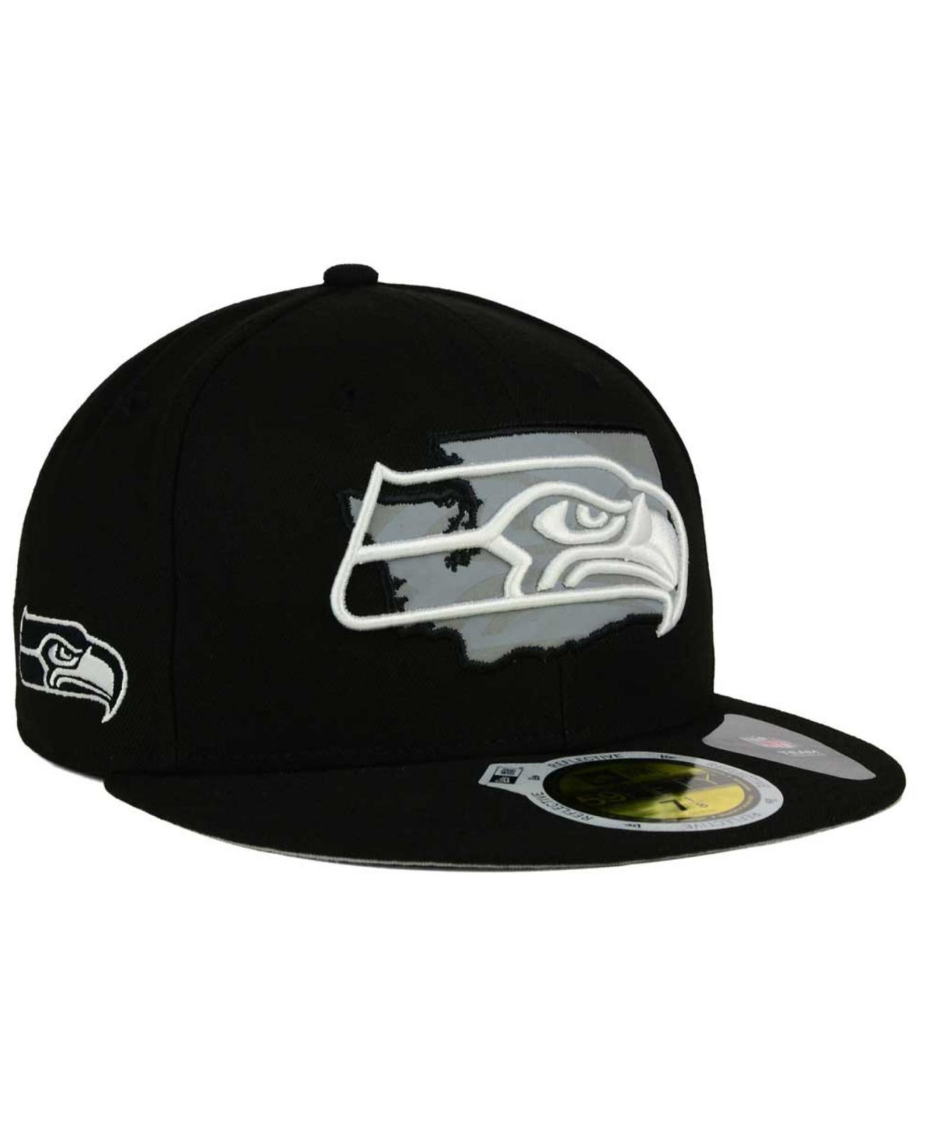 333c5d34b84 Lyst - KTZ Seattle Seahawks State Flective Redux 59fifty Cap in ...