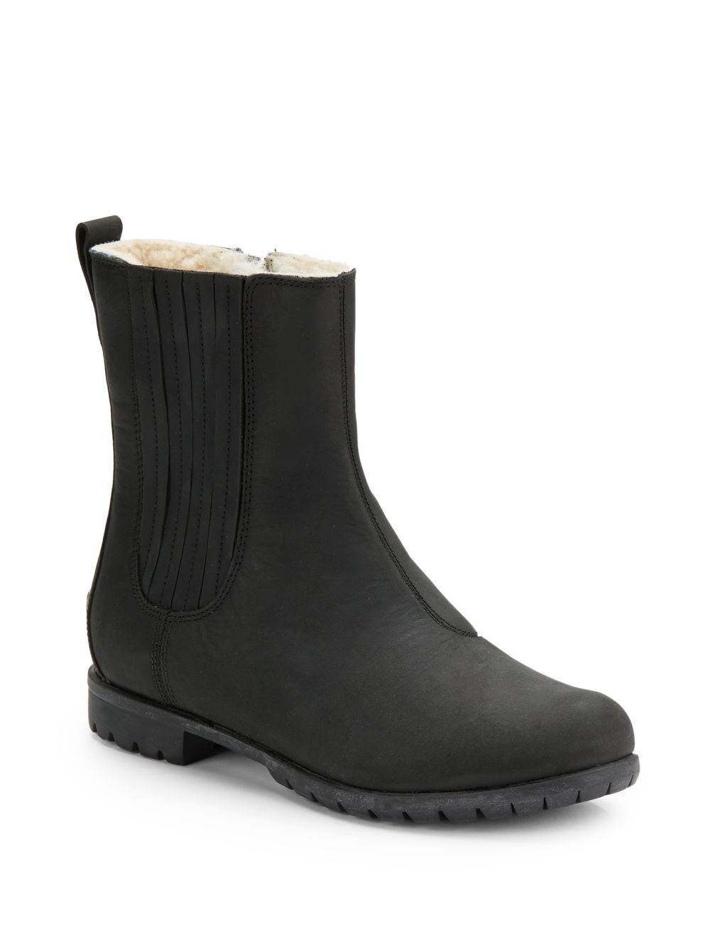 6ea7f2e986d2 ... new style lyst ugg ramos sidezip short leather boots in black 6a1d8  e68fb
