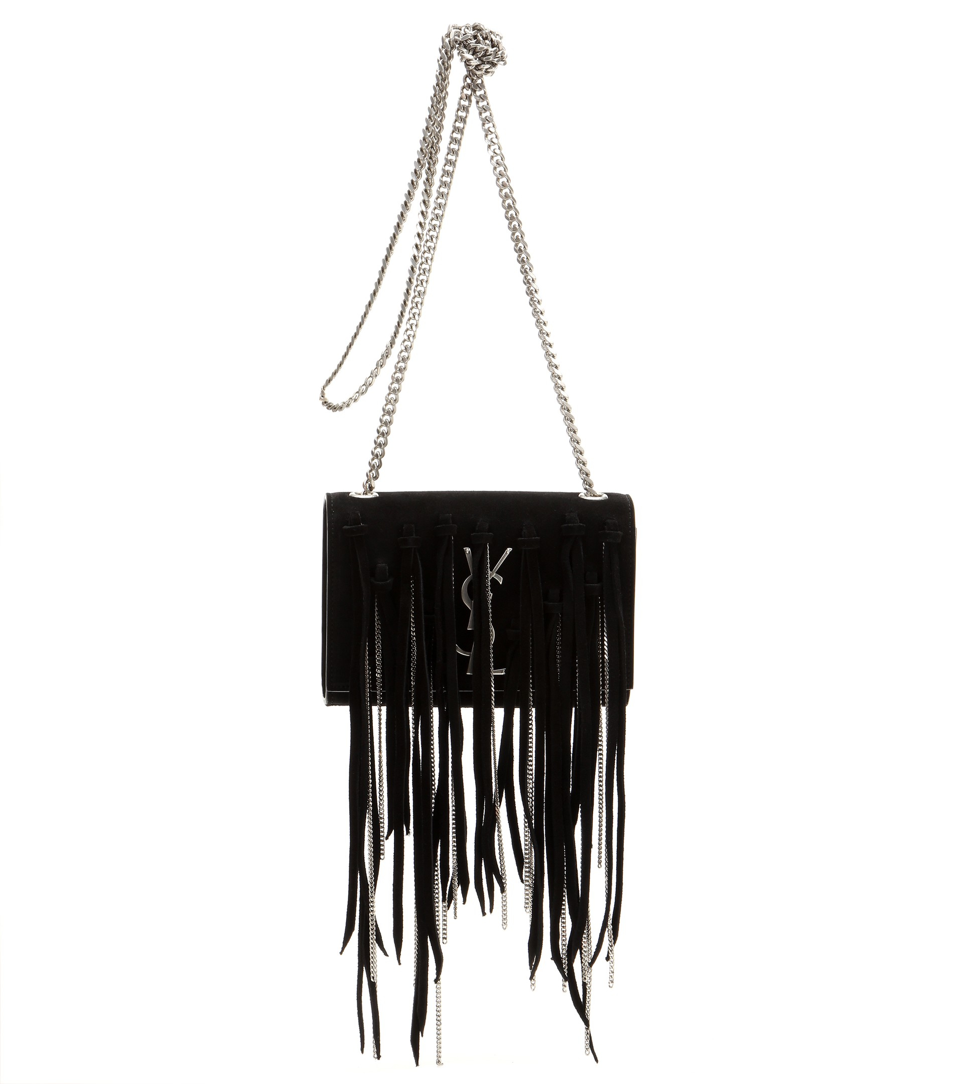 948e82d0563 yves st laurent website - small monogram saint laurent fringed crossbody bag  in black leather ...