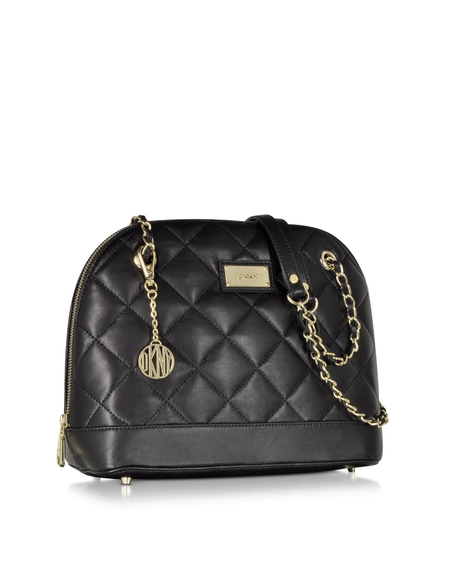 Lyst - Dkny Gansevoort Black Quilted Nappa Satchel Bag in Black : dkny black quilted purse - Adamdwight.com