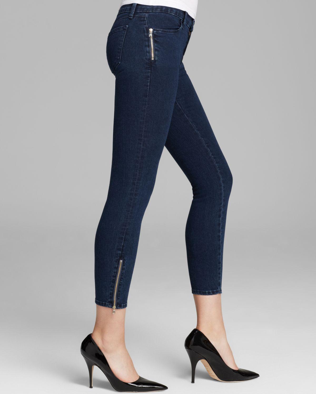 Lyst J Brand Jeans Tali Zip Skinny In Blue Depth In Blue