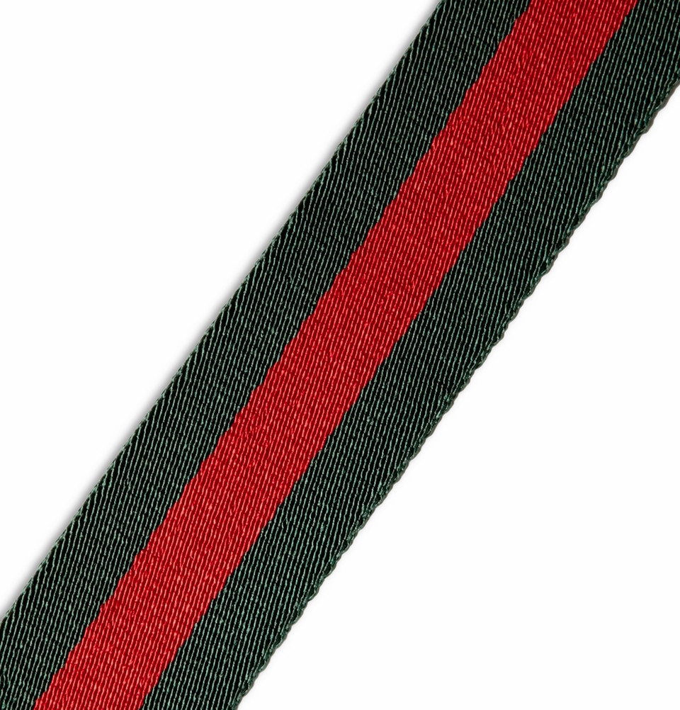lyst gucci 4cm striped canvas belt in green for men