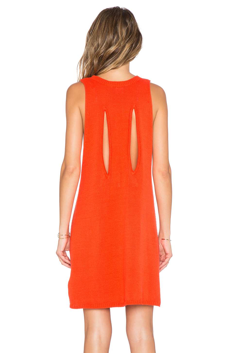 Lyst Somedays Lovin Electric Cable Knit Dress In Red