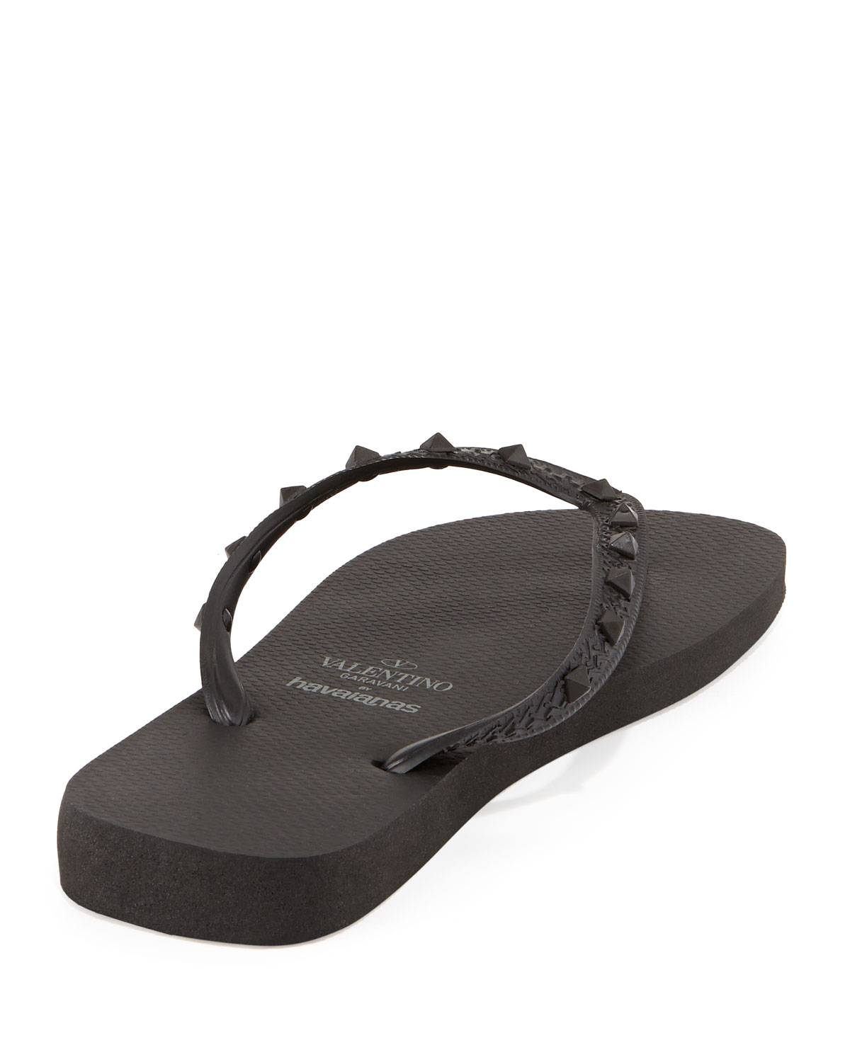 fd64d25bb034 Valentino By Havaianas Rockstud Flip Flop Black in Black for Men - Lyst