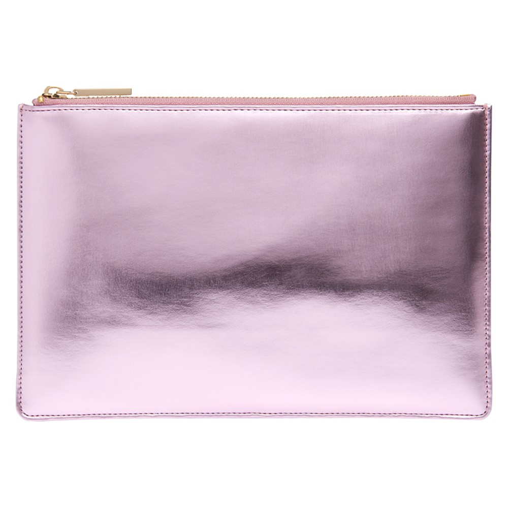 Whistles Small Metallic Clutch Bag in Pink - Lyst c7363c89efdfc