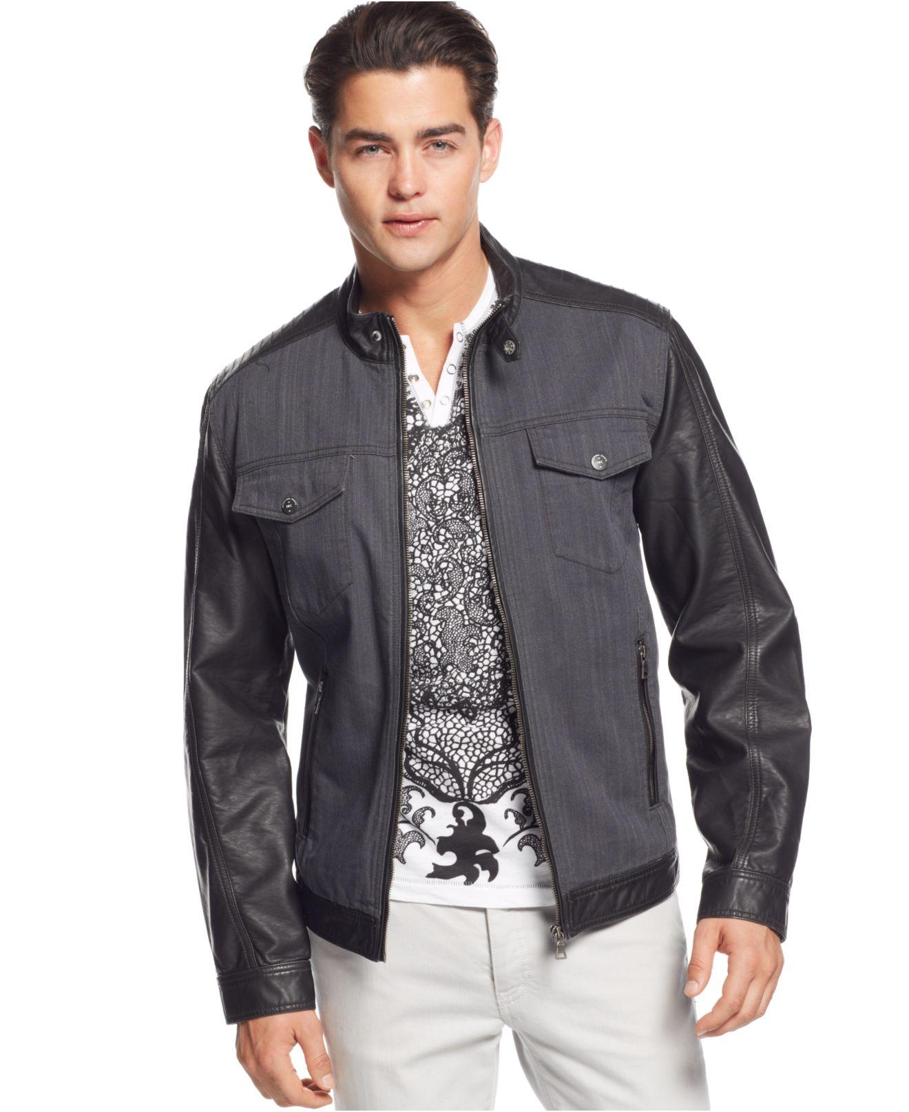Inc international concepts Dan Denim Jacket in Gray for Men | Lyst
