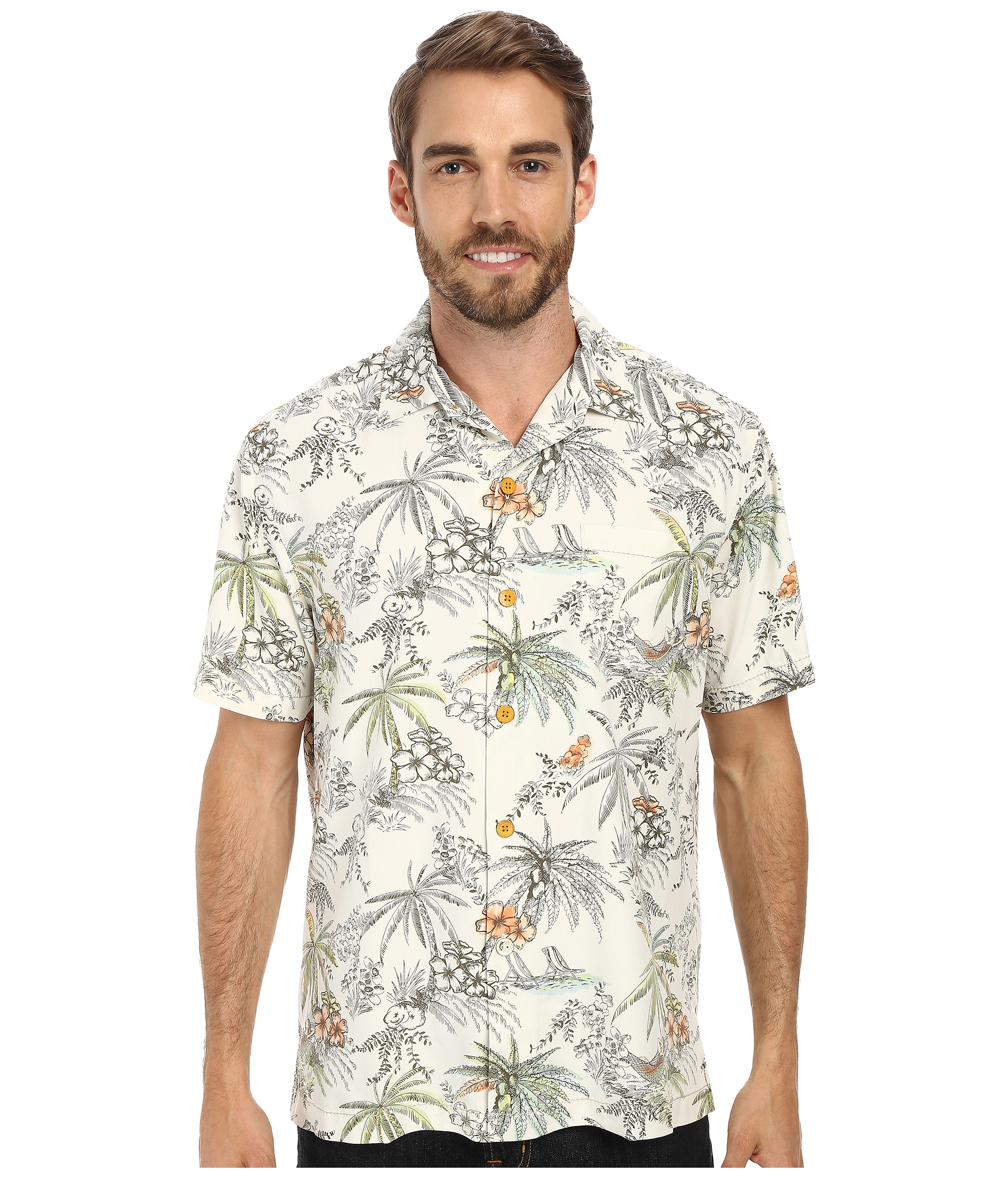 Tommy Bahama Lido Leisure Silk Camp Shirt Big Tall For