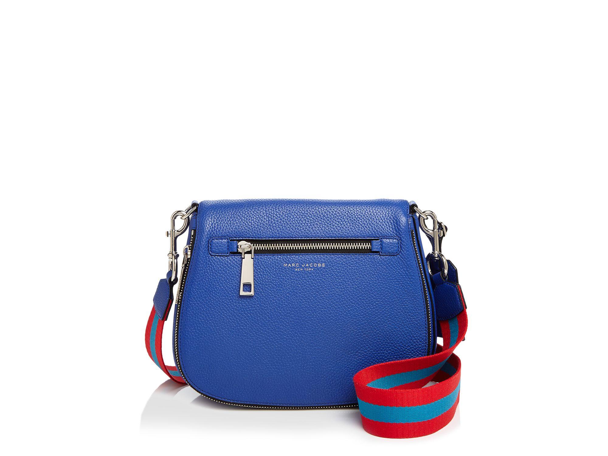 255fc2edeee7 Lyst - Marc Jacobs Gotham City Saddle Bag in Blue