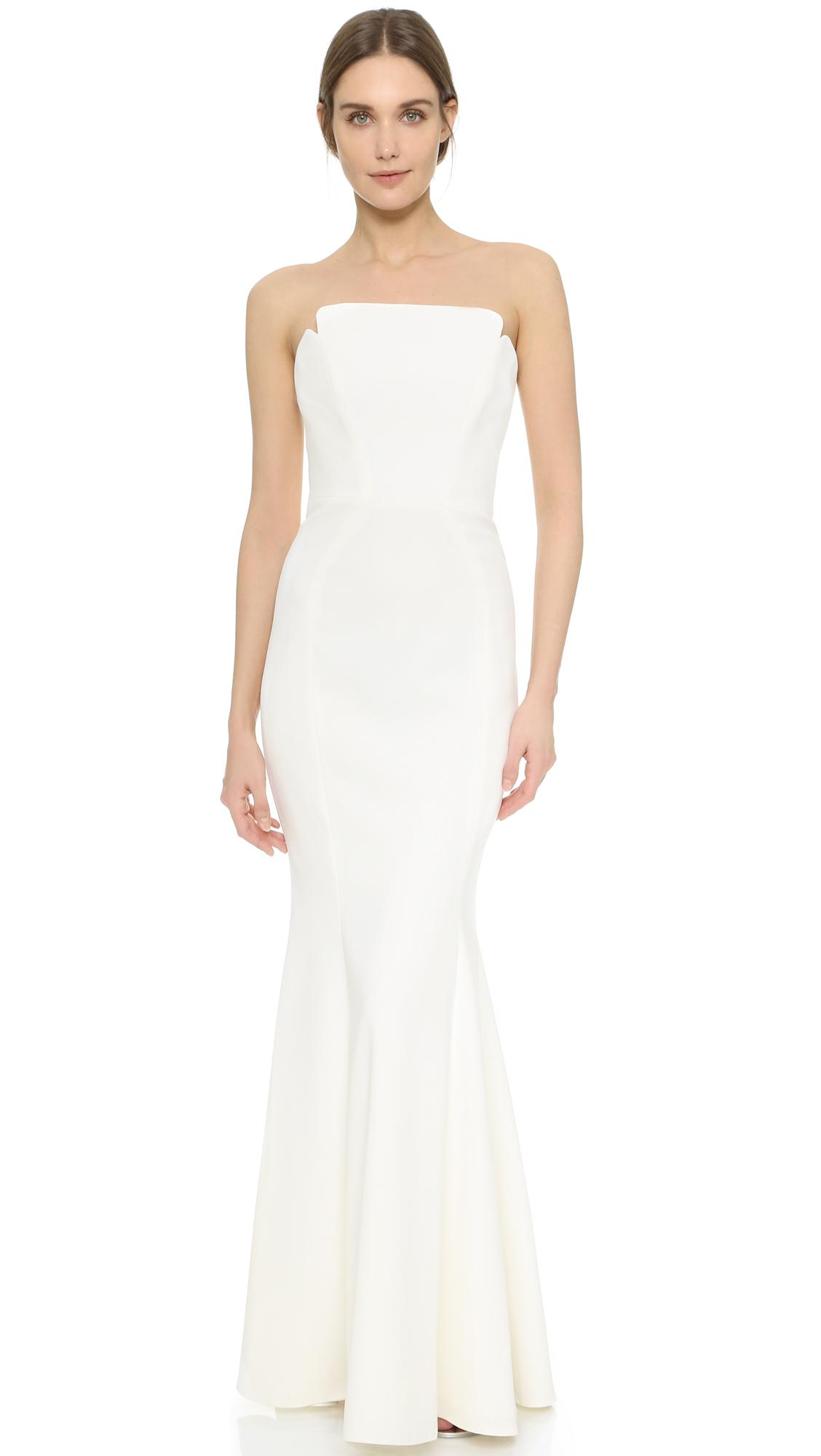 e683e5a6ea597 JILL Jill Stuart Strapless Maxi Dress in White - Lyst