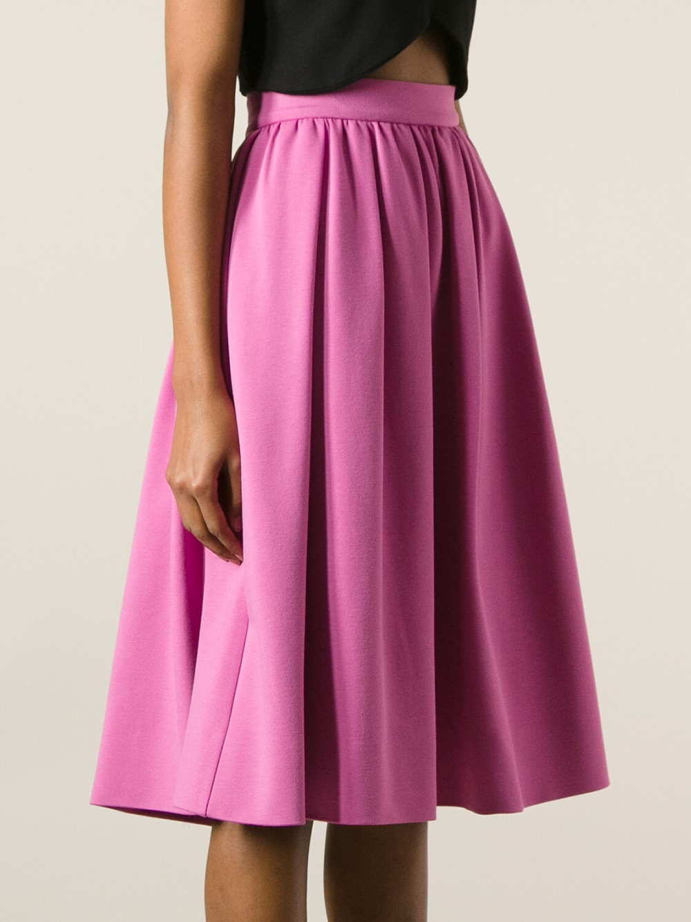 Dsquared² Pleated Aline Skirt in Purple | Lyst