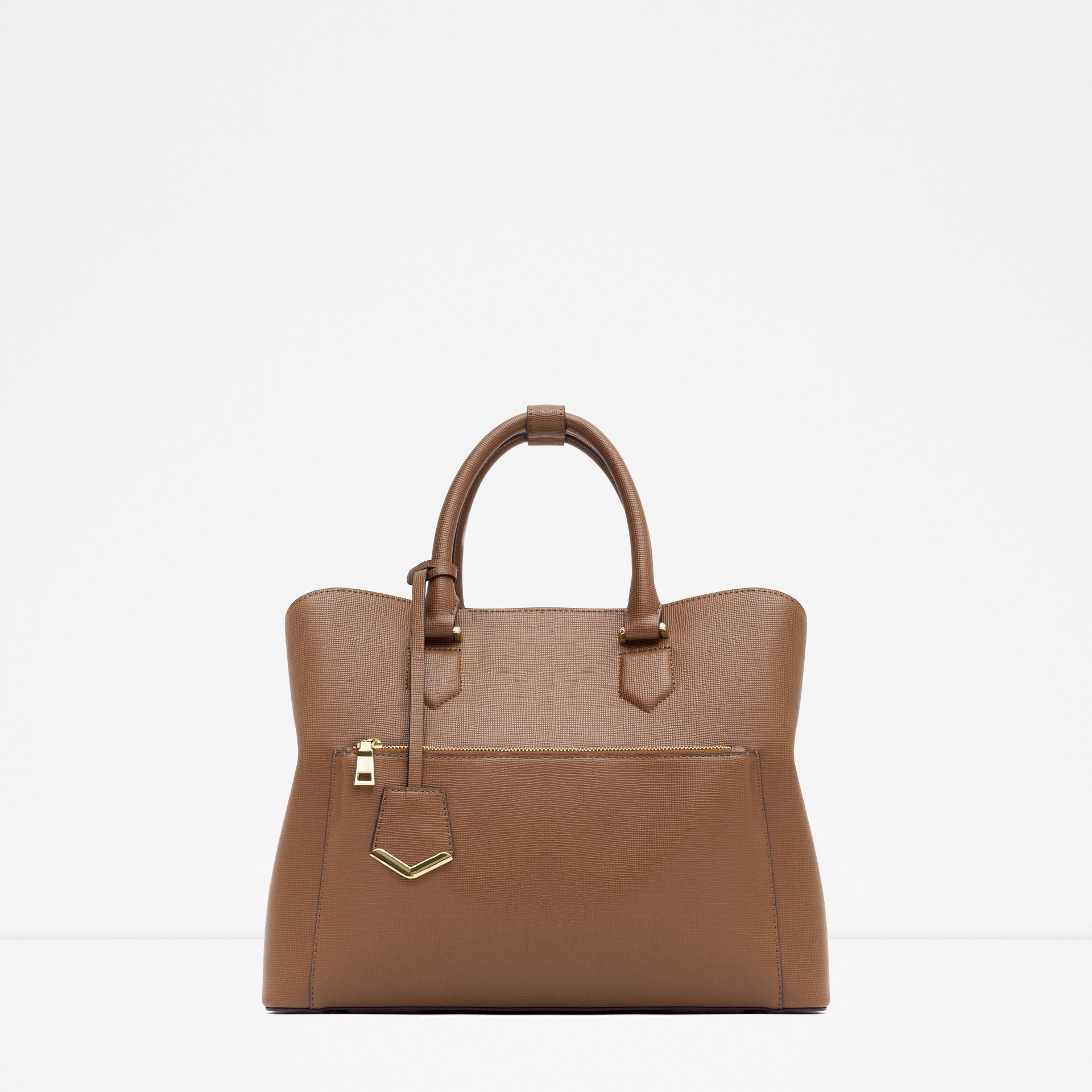 Zara Office City Bag in Brown | Lyst