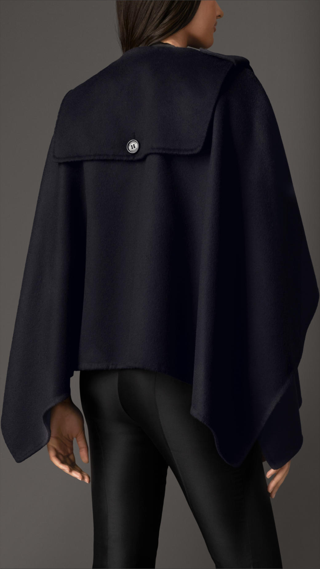 252936b3a43 Lyst - Burberry Military Cashmere Cape in Blue