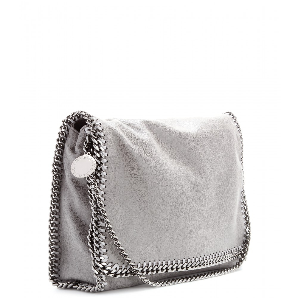 2bc63c5a0c Stella McCartney Falabella Shaggy Deer Messenger Bag in Gray - Lyst