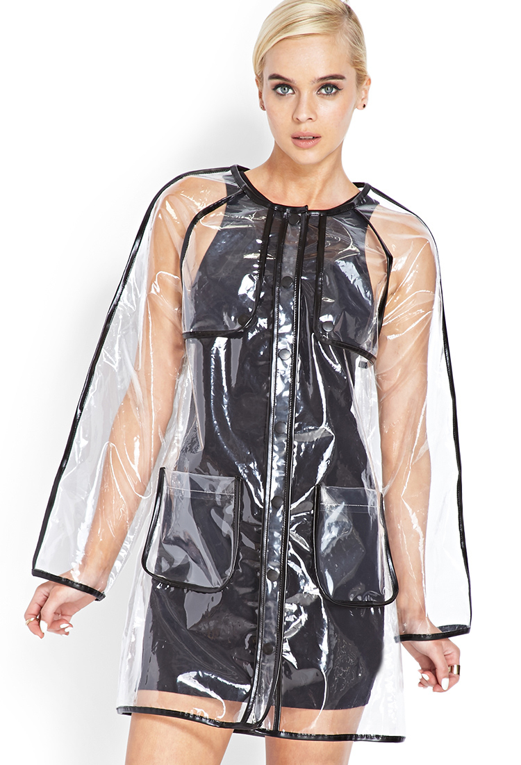 Lyst Forever 21 Transparent Rain Coat You Ve Been Added