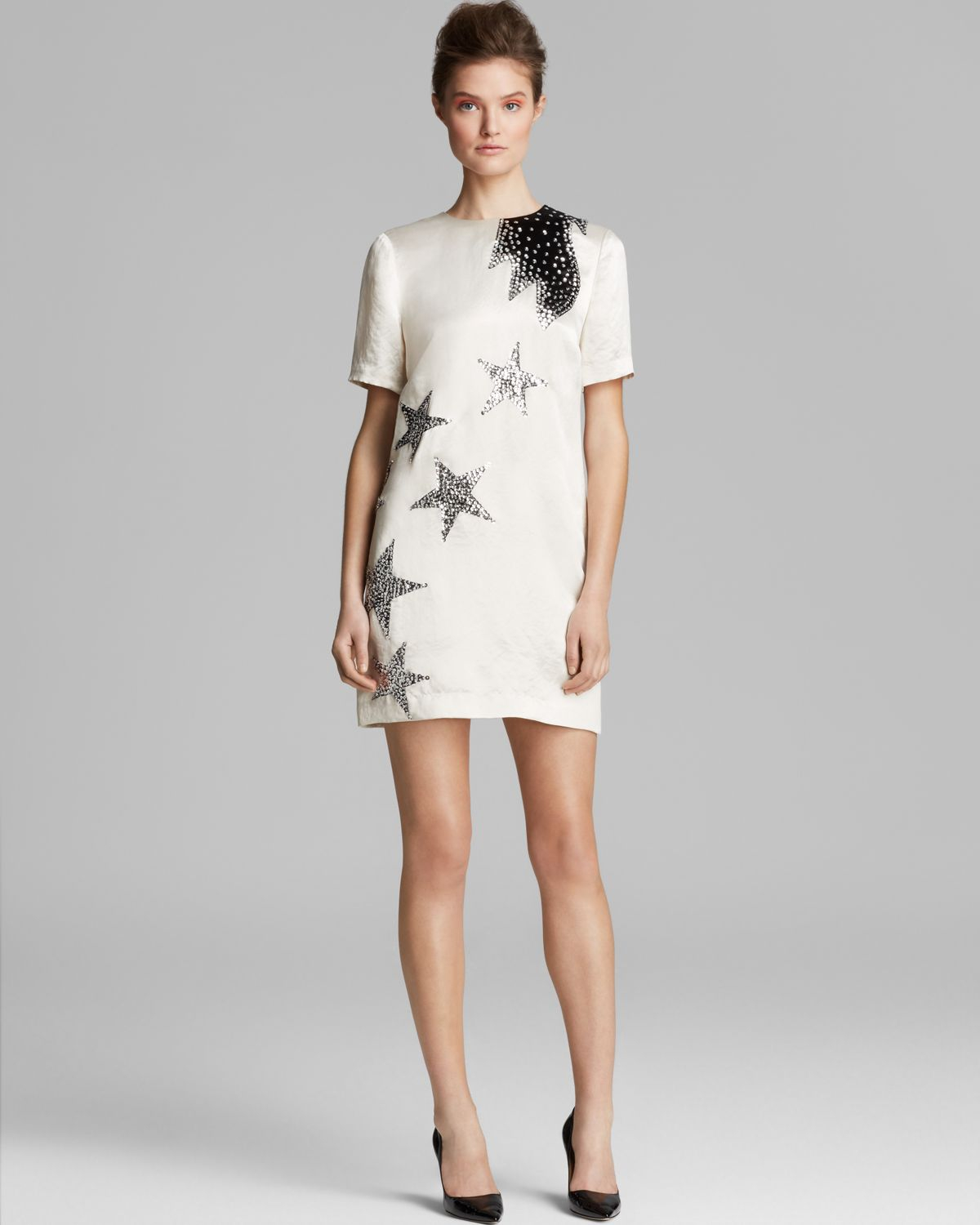 Lyst - Marc By Marc Jacobs Dress Cosmo Night Satin in White
