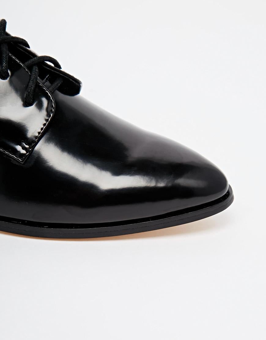 Dune Loris Black Brogue Flat Shoes In Black   Lyst