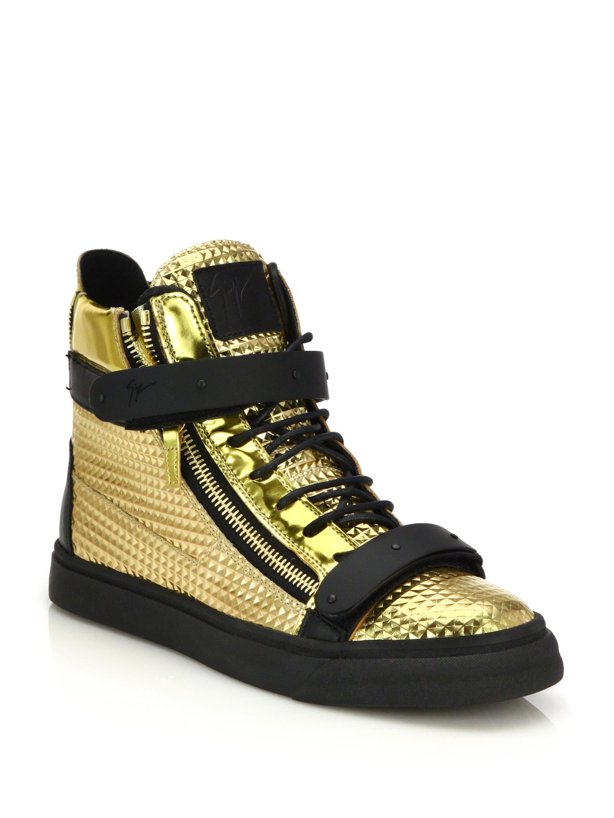 giuseppe zanotti sneakers gold. Black Bedroom Furniture Sets. Home Design Ideas