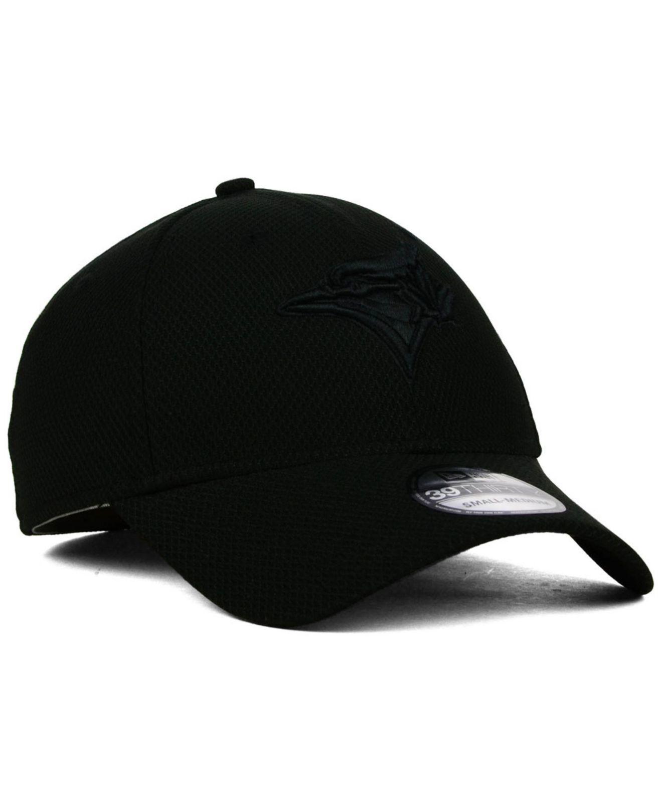 big sale 3fef9 0b915 KTZ Toronto Blue Jays Black Diamond Era 39Thirty Cap in Black for ...