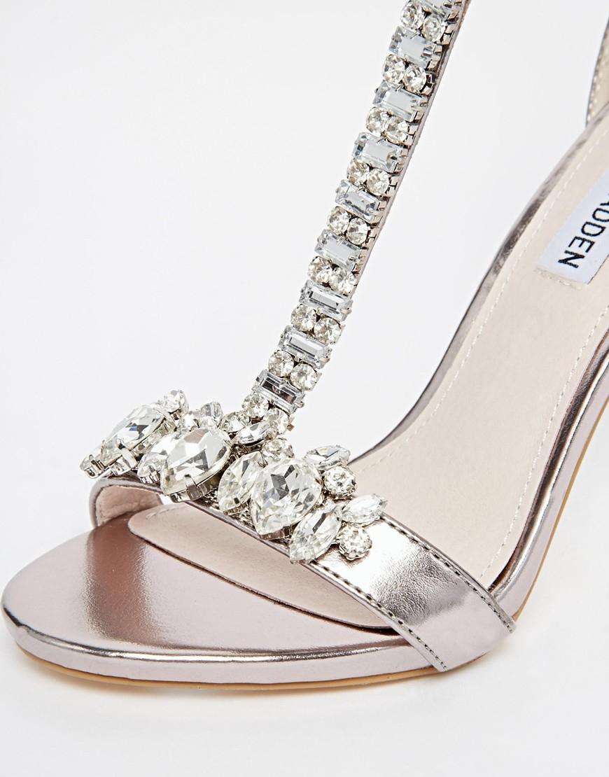 Silver Embellished Heels | Tsaa Heel