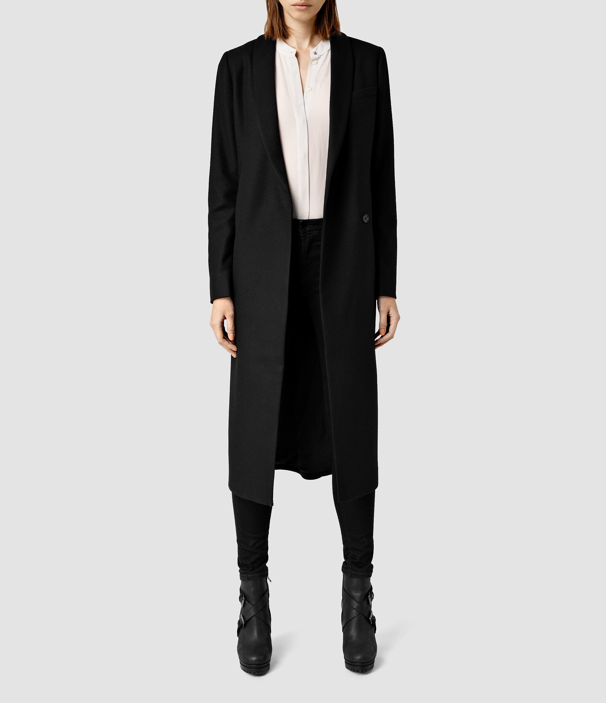 allsaints jet coat usa usa in black lyst