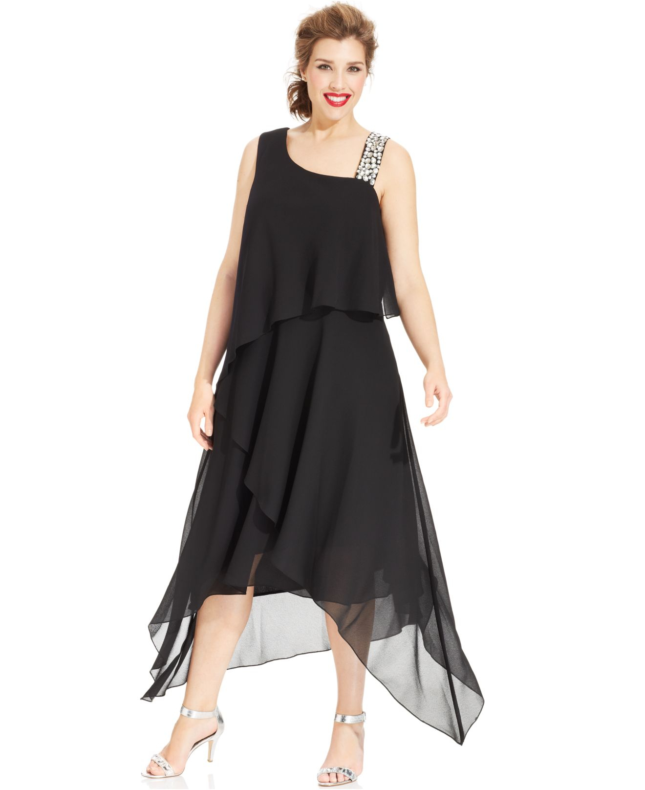 Plus Size Asymmetrical Dresses