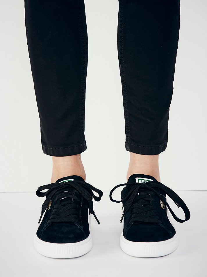 3a2b17cd6b9 Lyst - Free People Suede Classic Sneaker in Black