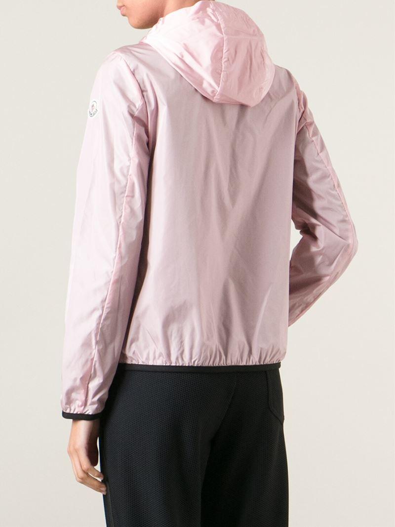 Moncler Classic Windbreaker Jacket in Pink for Men | Lyst